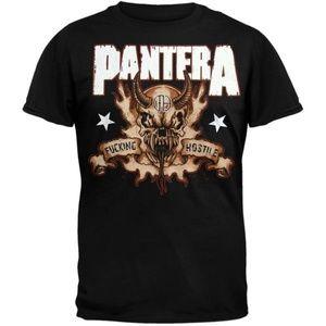 Pantera Hostile Skull T-Shirt Shirt Tee Metal Goth